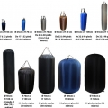 25x70, Defensa hinchable con funda de Cordura(R)